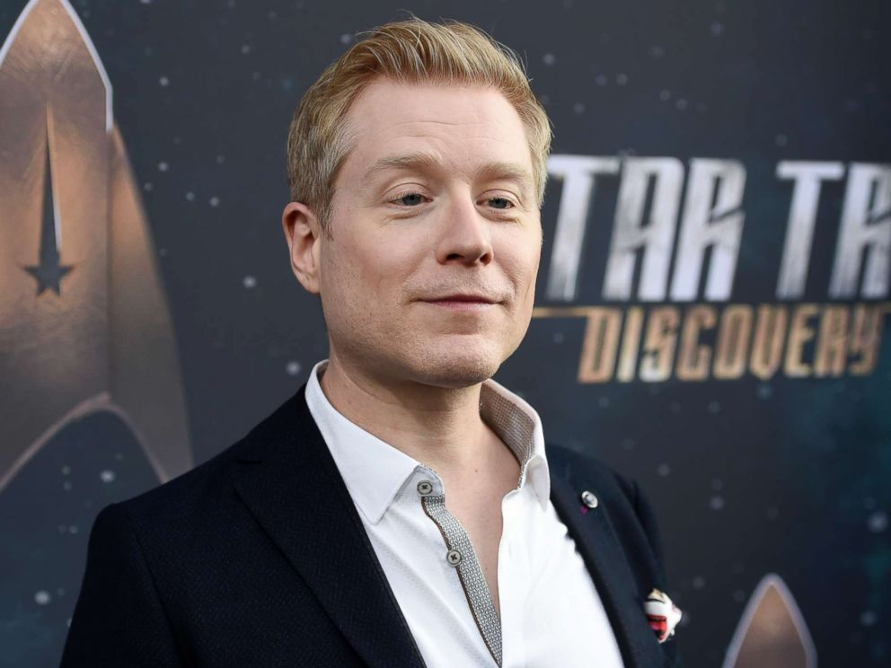 PHOTO: Anthony Rapp, cast member in Star Trek: Discovery, poses at the