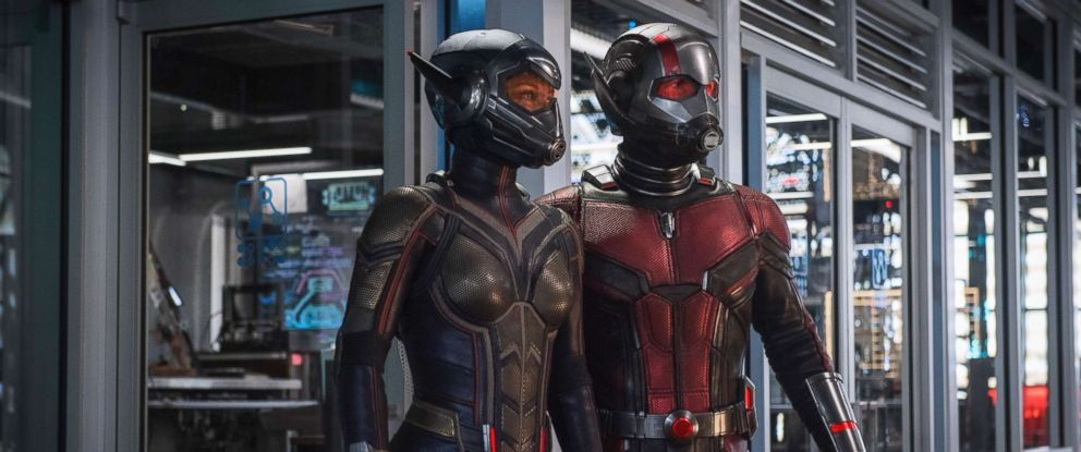 """PHOTO: Evangeline Lilly and Paul Rudd in a scene from """"Ant-Man and the Wasp."""""""