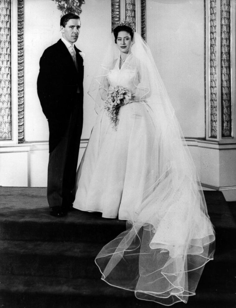 PHOTO: Antony Armstrong-Jones and Princess Margaret on their wedding day at Buckingham Palace after the ceremony, May 6, 1960.