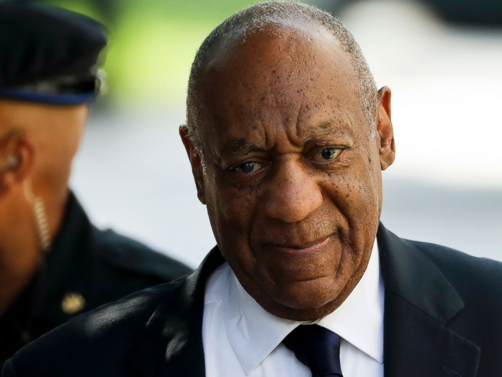 PHOTO: Bill Cosby arrives for his sexual assault trial at the Montgomery County Courthouse, June 13, 2017, in Norristown, Pa.
