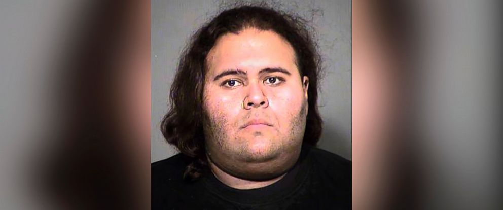 PHOTO: Matthew Sterling was taken into custody after a brief struggle with police at the Phoenix Convention Center, May 25, 2017, after he allegedly attempted to bring guns and knives into the local Comicon,