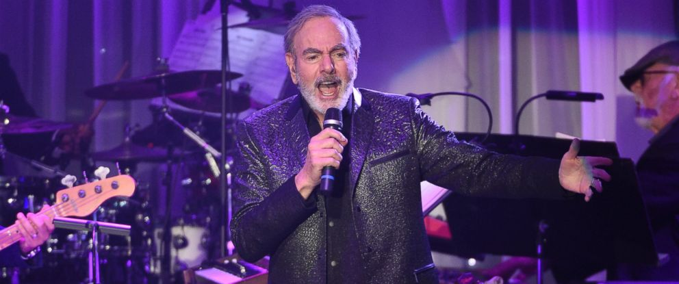 This Feb. 11, 2017, file photo shows Neil Diamond performing at the Clive Davis and The Recording Academy Pre-Grammy Gala at the Beverly Hilton Hotel in Beverly Hills, Calif.