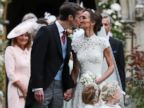 PHOTO: Pippa Middleton and James Matthews kiss after their wedding at St Marks Church in Englefield, England, May 20, 2017.