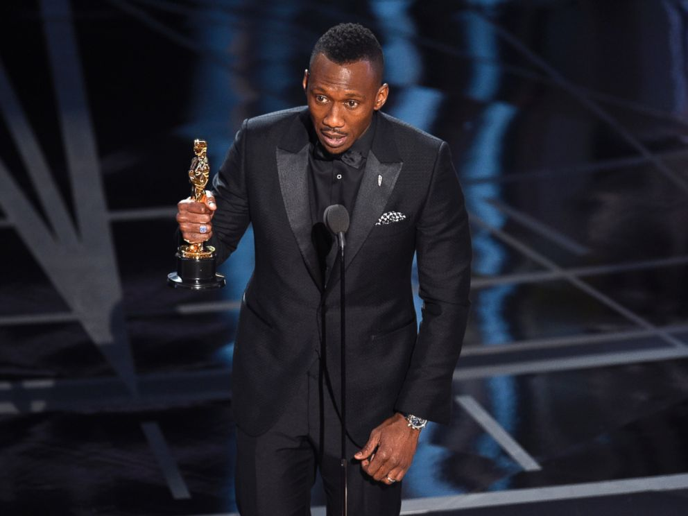 PHOTO: Mahershala Ali accepts the award for best actor in a supporting role for Moonlight at the Oscars, Feb. 26, 2017, in Hollywood, Calif.