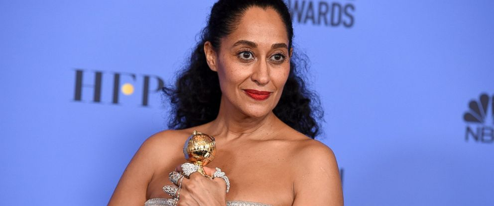 PHOTO: Tracee Ellis Ross poses in the press room at the 74th annual Golden Globe Awards at the Beverly Hilton Hotel on Jan. 8, 2017, in Beverly Hills, Calif.