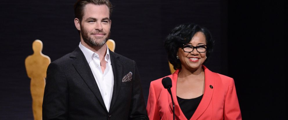 PHOTO: Chris Pine, left, and Academy President Cheryl Boone Isaacs announce the Academy Awards nominations, Jan. 15, 2015 in Beverly Hills, Calif.