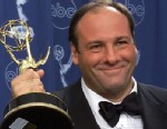 """PHOTO:This Sept. 10, 2000 file photo shows actor James Gandolfini with his award for outstanding lead in a drama series for his work in """"The Sopranos"""" at the 52nd Annual Primetime Emmy Awards."""