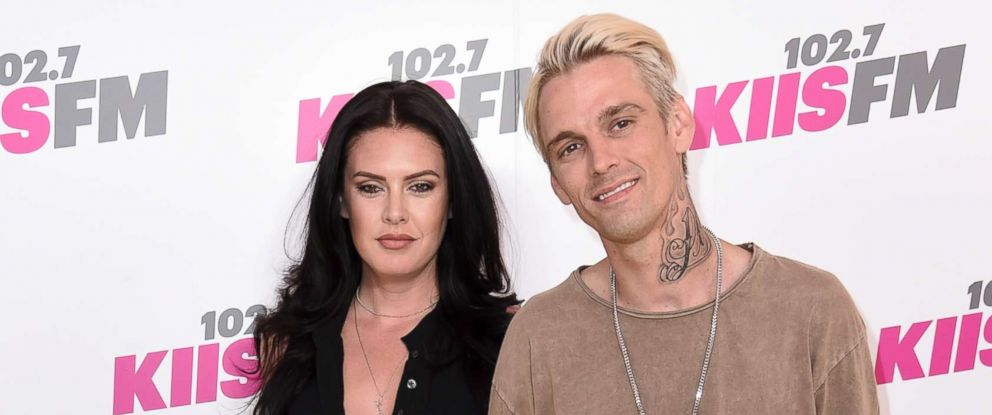 PHOTO: Aaron Carter, right, and Madison Parker arrive at Wango Tango at StubHub Center on Saturday, May 13, 2017, in Carson, Calif.