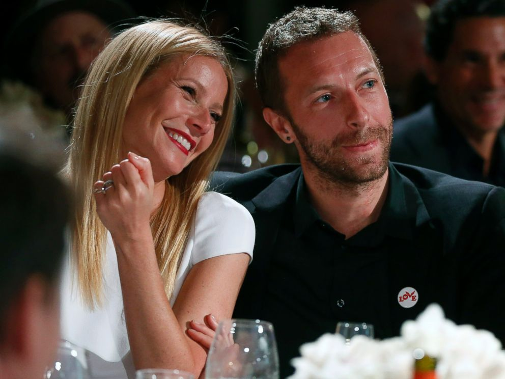 PHOTO: Gwyneth Paltrow and Chris Martin are pictured at a charity gala in Beverly Hills, Calif., Jan. 11, 2014.