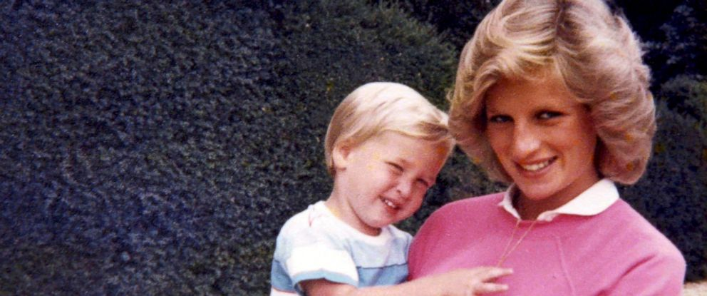 PHOTO: In this photo made available by Kensington Palace from the personal photo album of the late Diana, Princess of Wales, the princess holds Prince William, and features in the new ITV documentary Diana, Our Mother: Her Life and Legacy.