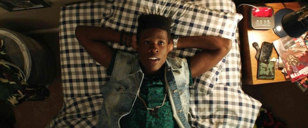 """PHOTO: In this image released by Open Road Films, Shameik Moore stars as Malcolm in a scene from, """"Dope."""""""