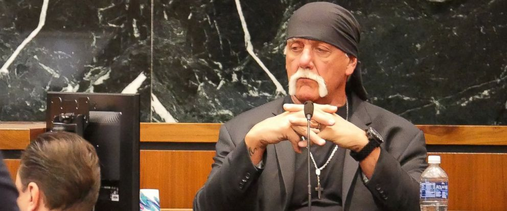 Terry Bollea, known as professional wrestler Hulk Hogan, listens while testifying in his case against the news website Gawker at the Pinellas County Courthouse, in St. Petersburg, Fla., March 7, 2016.