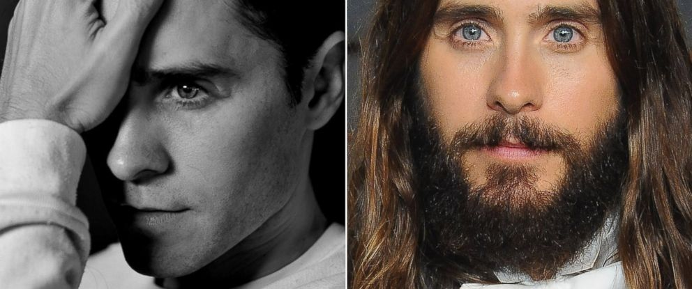 """PHOTO: Jared Leto and """"Suicide Squad"""" director David Ayer posted the undated photo of Leto on the left to social media on March 2, 2015 and Leto is seen at the Vanity Fair Oscar Party on Feb. 22, 2015."""