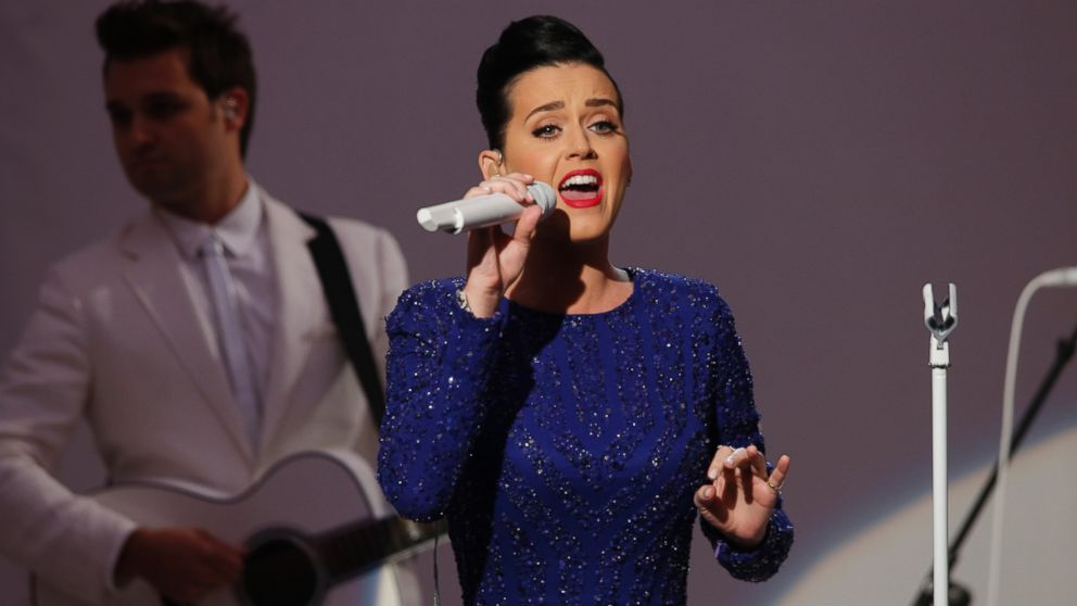 Singer Katy Perry performs at an event for the Special Olympics hosted by President Barack Obama in the State Dining Room at the White House in Washington, July 31, 2014.