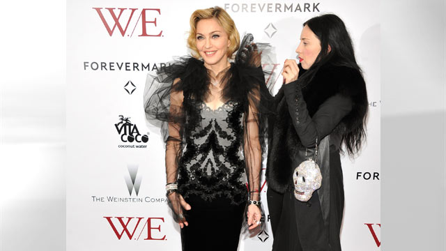 """PHOTO: Madonna attends the premiere of """"W.E."""" at the Ziegfeld Theater, Jan. 23, 2012 in New York City."""