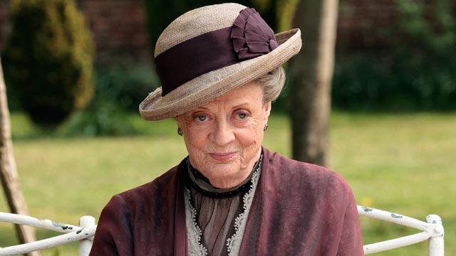 """PHOTO: Maggie Smith, as the Dowager Countess Grantham, is shown in a scene from the second season on """"Downton Abbey."""""""
