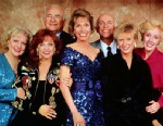 PHOTO: The original cast of the Mary Tyler Moore Show: from left to right are Betty White, Valerie Harper, Ed Asner, Mary Tyler Moore, Gavin MacLeod, Cloris Leachman, and Georgia Engel.