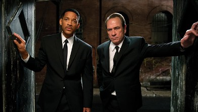 """PHOTO: Tommy Lee Jones, right, and Will Smith star are shown in a scene from """"Men in Black 3."""""""
