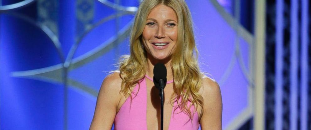 PHOTO: Gwyneth Paltrow speaks at the 72nd Annual Golden Globe Awards at the Beverly Hilton Hotel in Beverly Hills, Calif., Jan. 11, 2015.