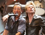 """PHOTO:This image released by Starpix shows Bruce Springsteen, left, and Jon Bon Jovi performing at the """"12-12-12 The Concert for Sandy Relief"""" at Madison Square Garden in New York on Wednesday, Dec. 12, 2012."""