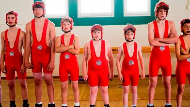 """PHOTO: Zachary Gordon, third from right, is shown in a scene from """"Diary of a Wimpy Kid."""""""