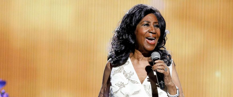 "PHOTO: Aretha Franklin performs during the 2017 Tribeca Film Festival Opening Gala premiere of ""Clive Davis: The Soundtrack of our Lives"" at Radio City Music Hall, April 19, 2017 in New York City."