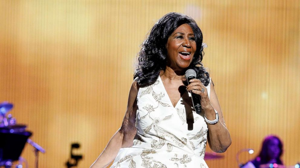 "Aretha Franklin performs during the 2017 Tribeca Film Festival Opening Gala premiere of ""Clive Davis: The Soundtrack of our Lives"" at Radio City Music Hall, April 19, 2017 in New York City."