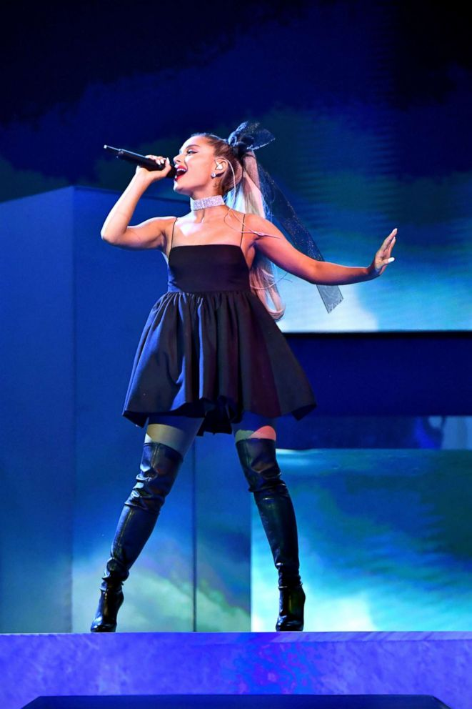 PHOTO: Ariana Grande performs onstage during the 2018 Billboard Music Awards at MGM Grand Garden Arena on May 20, 2018 in Las Vegas.