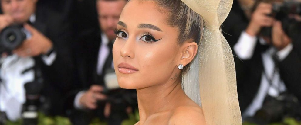 PHOTO: Ariana Grande attends the Heavenly Bodies: Fashion & The Catholic Imagination Costume Institute Gala at The Metropolitan Museum of Art on May 7, 2018 in New York.