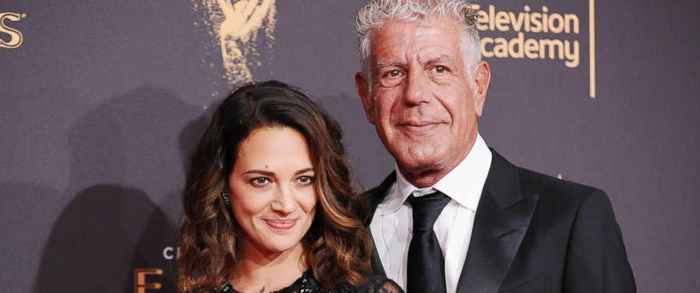 PHOTO: Asia Argento and Anthony Bourdain attend the 2017 Creative Arts Emmy Awards at Microsoft Theater in this Sept. 9, 2017 in Los Angeles.