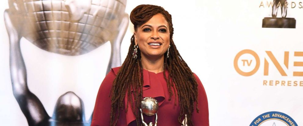 PHOTO: Ava DuVernay, winner of Entertainer of the Year, poses in the press room for the 49th NAACP Image Awards at Pasadena Civic Auditorium, Jan. 15, 2018, in Pasadena, Calif.