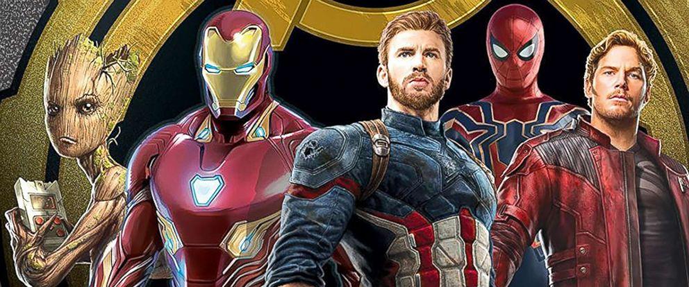 """PHOTO: Robert Downey Jr., Vin Diesel, Bradley Cooper, Chris Evans, Chris Pratt, and Tom Holland pose for a cast photo for """"Avengers: Infinity War."""""""