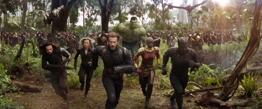 "PHOTO: Characters from the Avengers are seen in a still image from the trailer for Marvels, ""Avengers: Infinity War."""