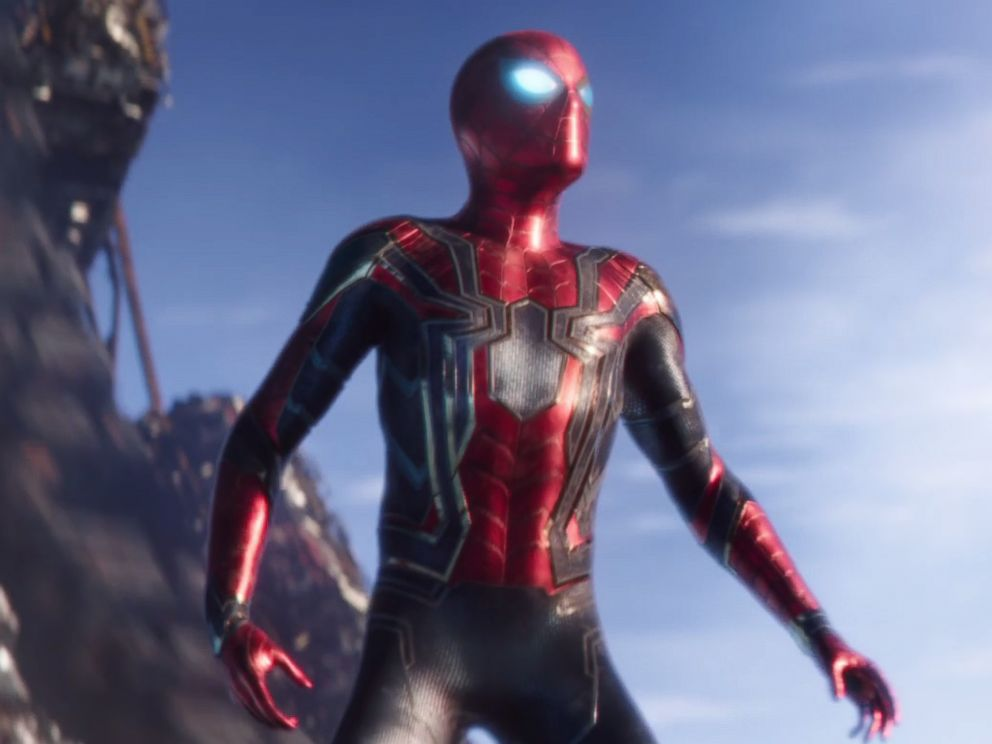 PHOTO: Spider-Man is seen in a still image from the trailer for Marvels, Avengers: Infinity War.