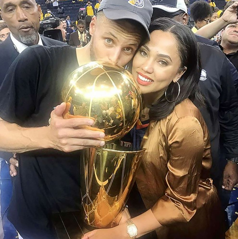 a44ee4d0de4 PHOTO  Ayesha Curry celebrates her husband Steph Currys NBA championship  win.