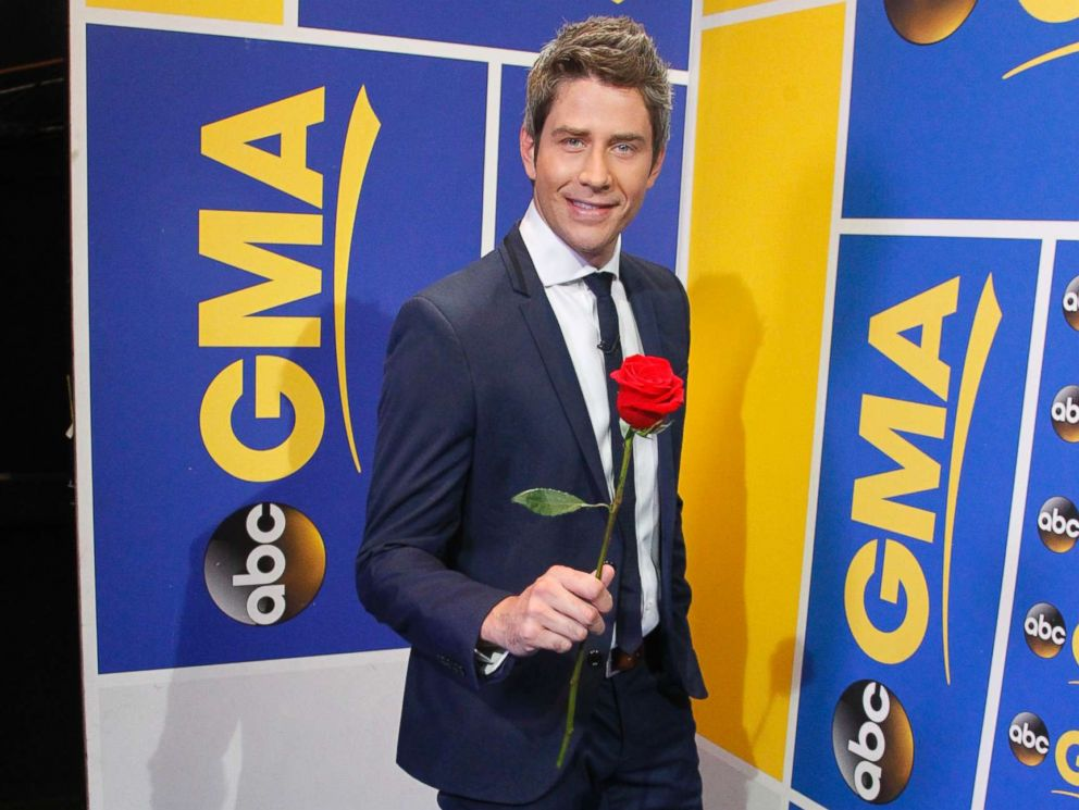 PHOTO: Arie Luyendyk Jr., the race car driver who appeared on season eight of The Bachelorette in 2012, was revealed as the new Bachelor on Good Morning America on Sept. 7, 2017.