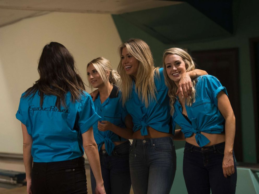 PHOTO: From left, Maquel, Krystal and Jenna are seen in The Bachelor.