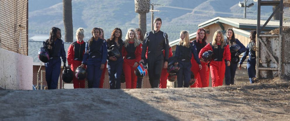 "PHOTO: ""The Bachelor"" aired on , Jan. 8, 2018, with Arie Luyendyk Jr. taking the 15 contestants to a racetrack."
