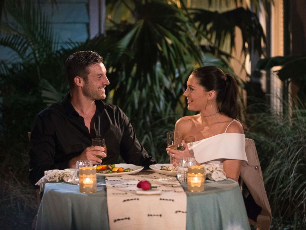 PHOTO: Becca Kufrin and Garrett are pictured on the July 9, 2018 episode of The Bachelorette on The ABC Television Network.