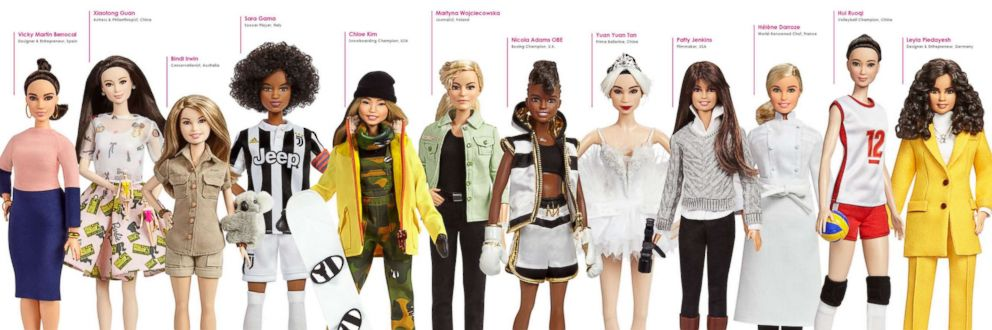 PHOTO: Mattel announced a new line of Barbies to recognize great women, which celebrates their professions and achievements that inspires young girls.