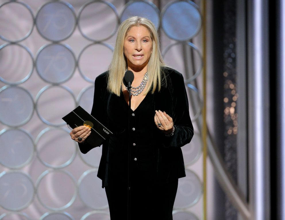 PHOTO: Barbra Streisand presents at the 75th Annual Golden Globe Awards in Beverly Hills, Calif., Jan. 7, 2018.