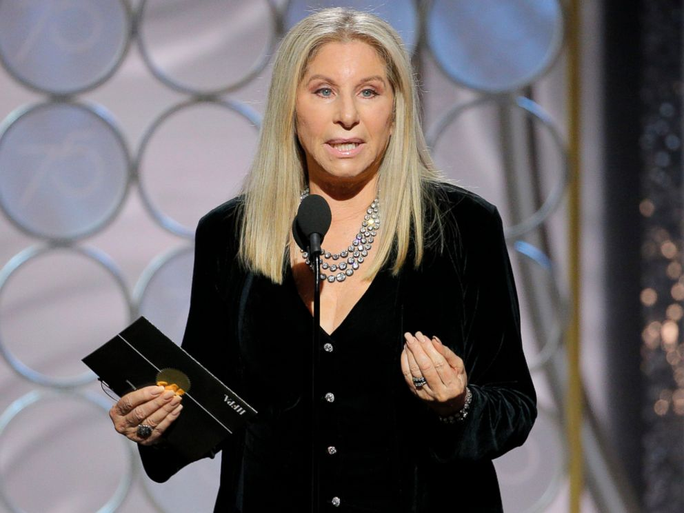 PHOTO: Barbra Streisand presents at the 75th Annual Golden Globe Awards in Beverly Hills, Calif., on Jan. 7, 2018.