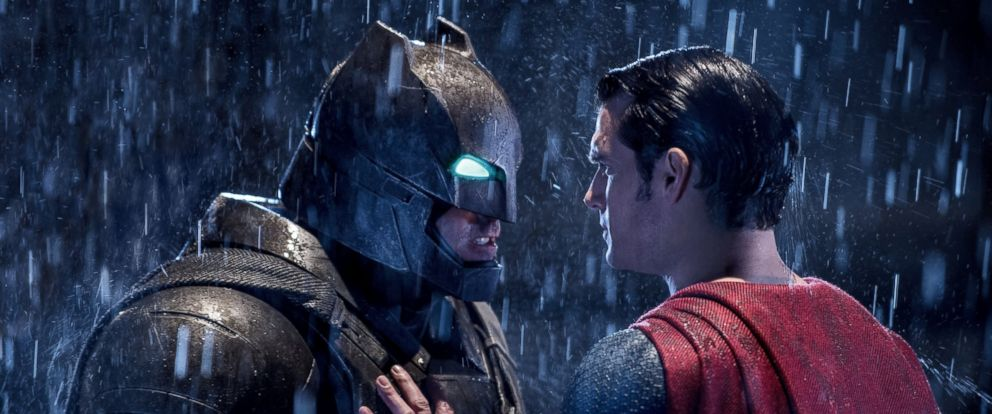 PHOTO: A production still of Batman v Superman: Dawn of Justice is seen here.