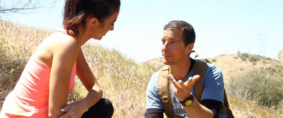 PHOTO: Bear Grylls said that the key to survival was positive thinking.