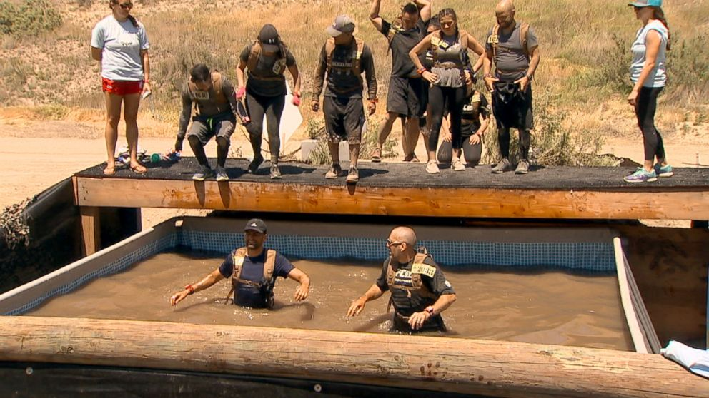 PHOTO: A snake pit is part of the course at the Bear Grylls Survival Challenge.