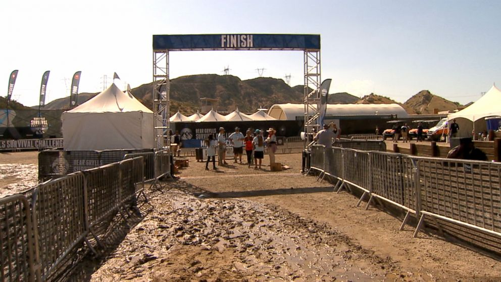 PHOTO: The finish line at the new Bear Grylls Survival Challenge.