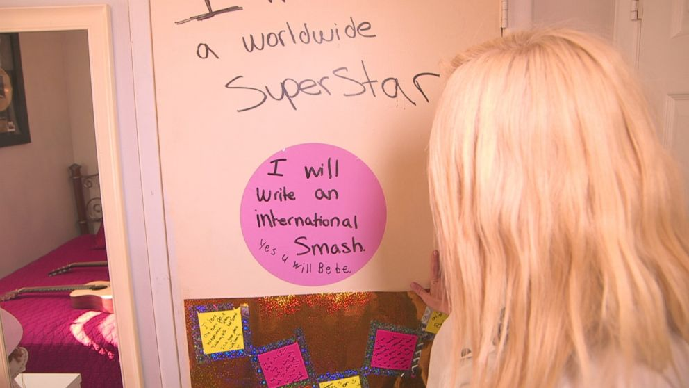 Filled with post-it affirmations, this was where the seeds of her ambition and intentions were planted.