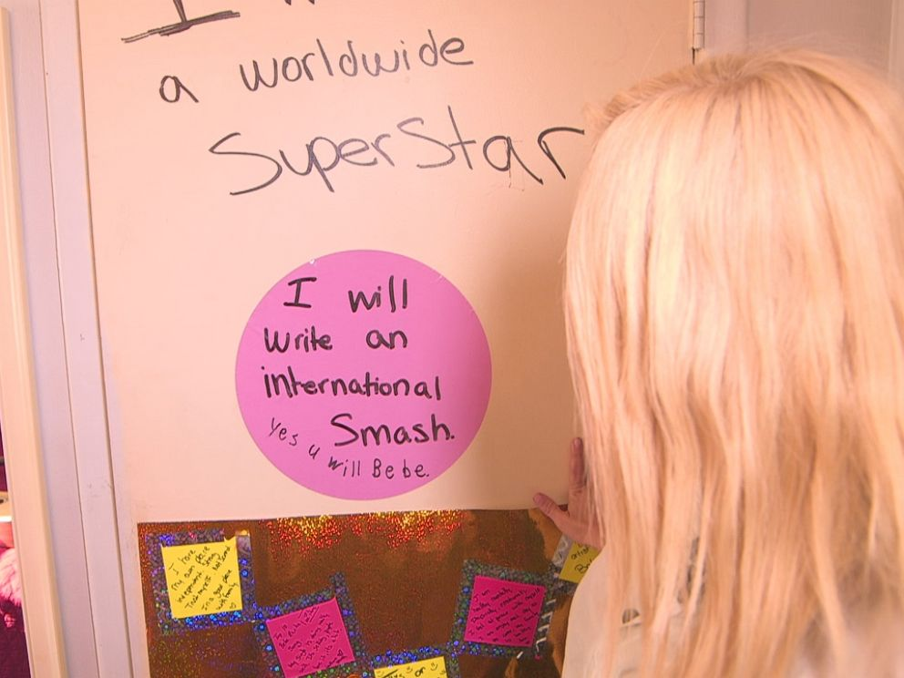 PHOTO: Filled with post-it affirmations, this was where the seeds of her ambition and intentions were planted.