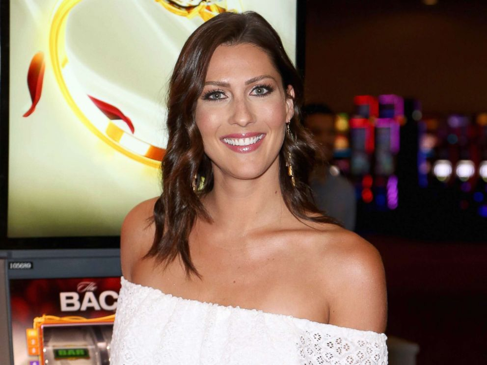 PHOTO: Television personality Becca Kufrin attends an unveiling of The Bachelor themed slot machine at the MGM Grand Hotel & Casino, May 17, 2018, in Las Vegas.