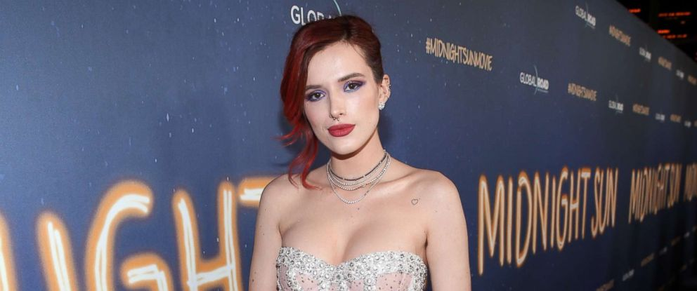 "PHOTO: Bella Thorne attends Global Road Entertainments world premiere of ""Midnight Sun,"" March 15, 2018, in Hollywood, Calif."